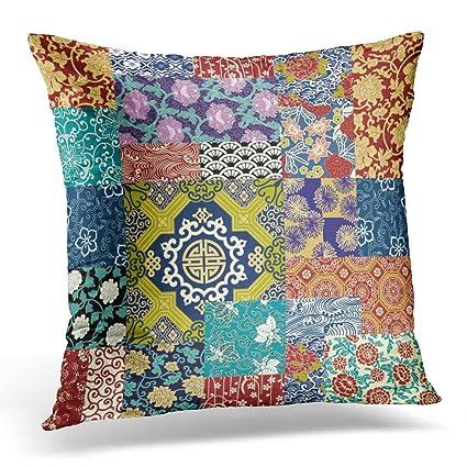 Amazon.com: Duplins Throw Pillow Cover Oriental Quilt ...