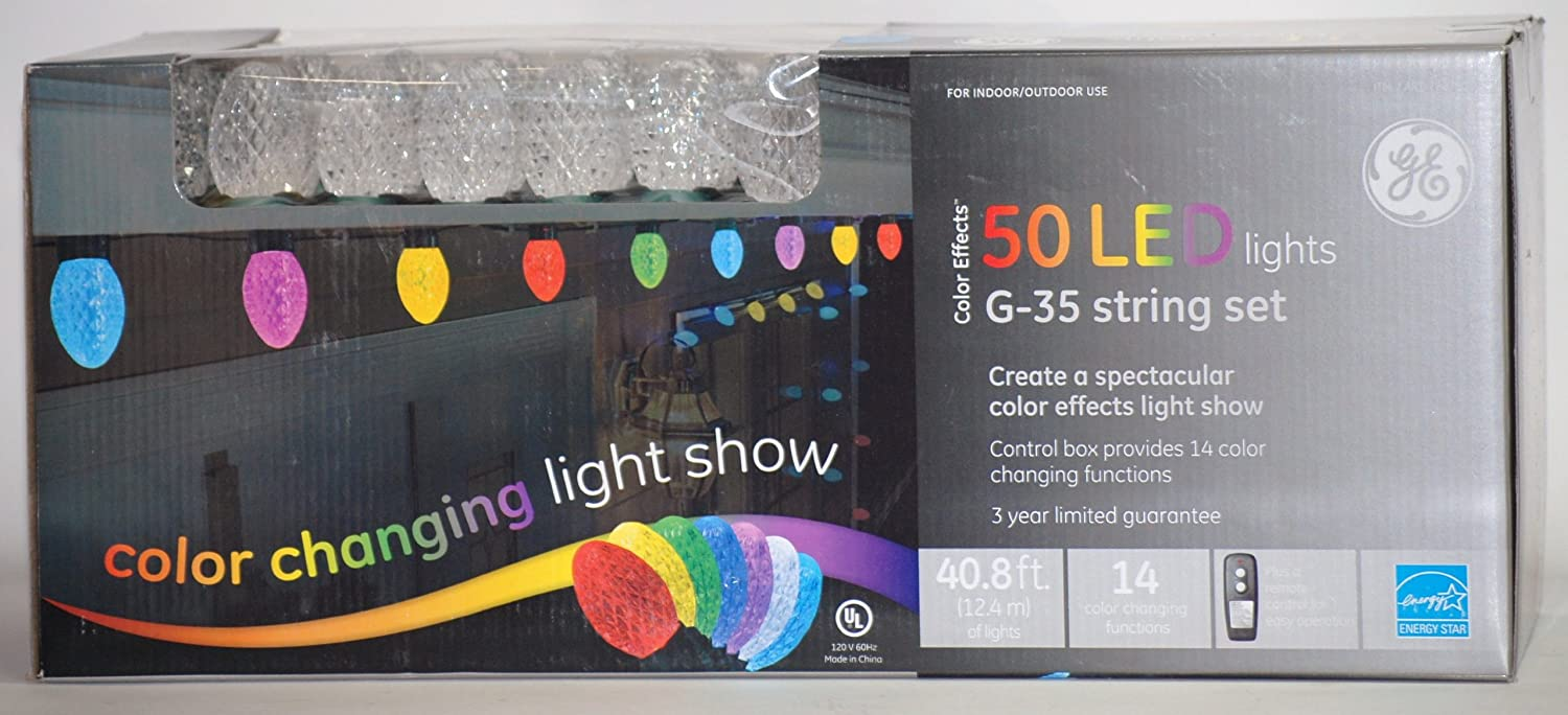 Amazon.com: GE Color Effects 50 LED Color Changing Light Show w ...