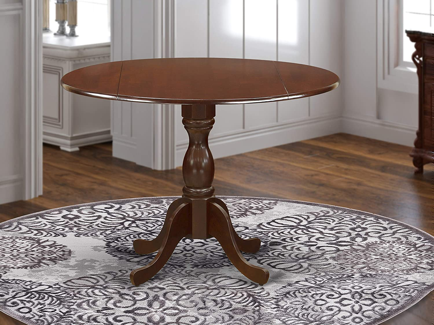 East West Furniture DMT-MAH-TP Dining Table, 42