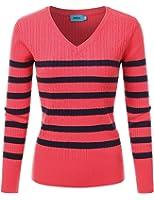 V-Neck Twisted Knit Sweater (S-L)