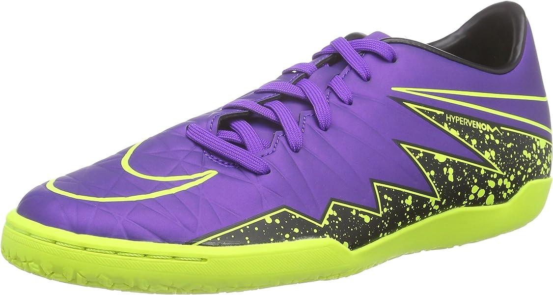 35268f937 Nike Hypervenom Phelon II IC Indoor Soccer Shoe (Hyper Grape, Black, Volt)