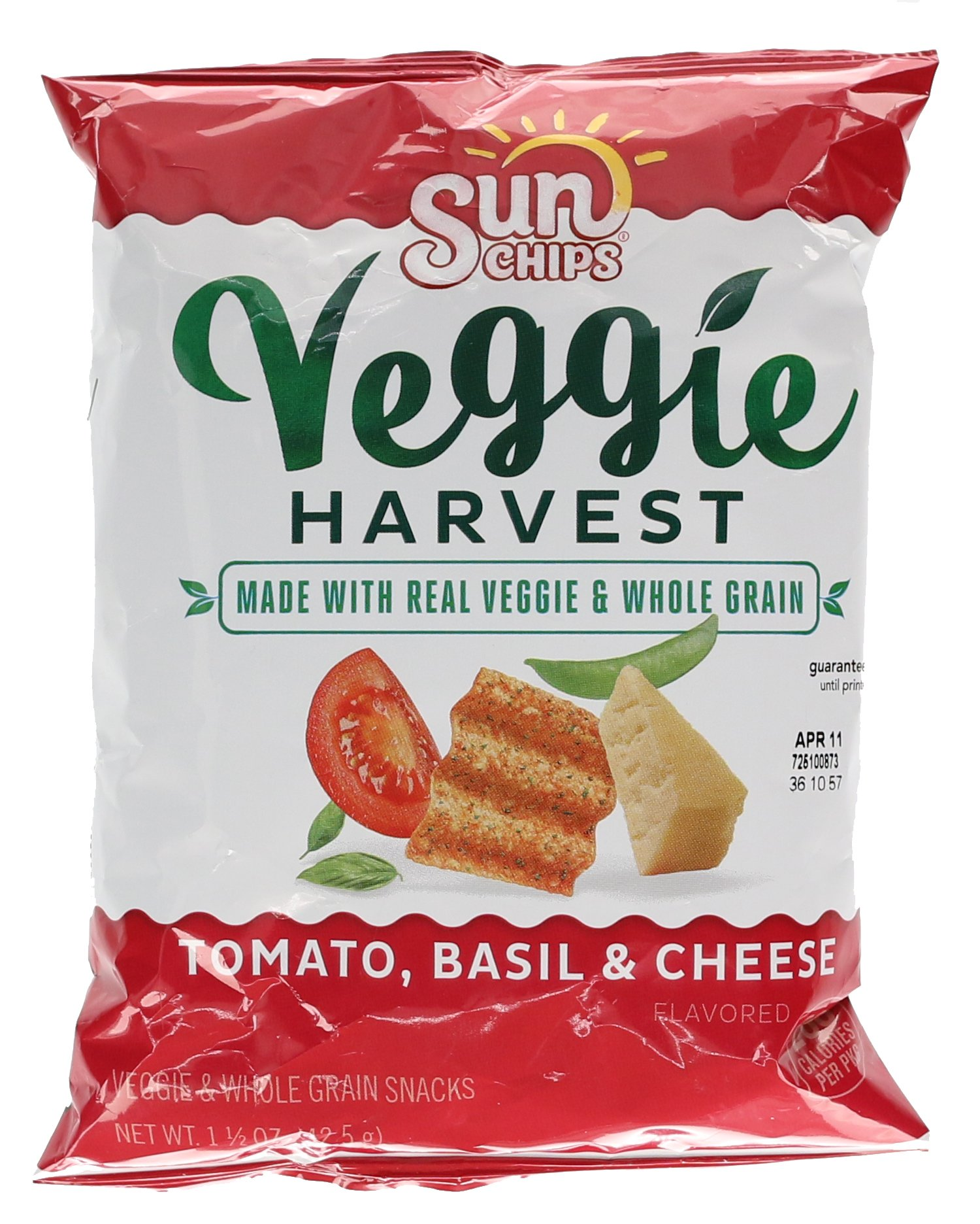 Sunchips Sunchips Veggie Chips, Tomato, Basil, and Cheese, 1.5 Ounce (Pack of 64), 96 Ounce