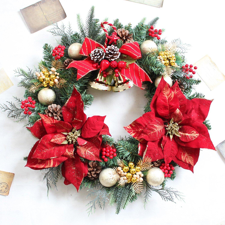 グランドグルー クリスマスリース 造花 直径50cm 特大 大きい タイプA B07688YYW8 10800  タイプA