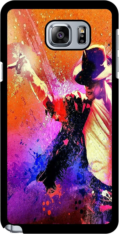 Michael Jackson Peinture de protection en caoutchouc téléphone Coque, Samsung Galaxy Note 5, Galaxy Note 5