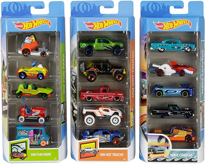 Hot Wheels Variety Cars 5-Pack 1:64 Scale Die-Cast Cars Collectors [Amazon Exclusive]