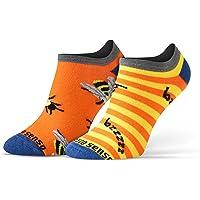 Sesto Senso Calcetines Cortos Divertidos Hombre Mujer 1-3 Pares Algodón Funny Socks