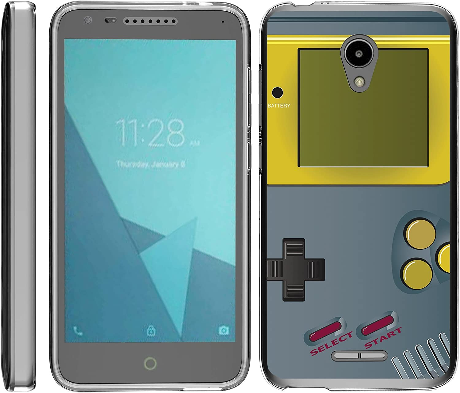 TurtleArmor | Compatible with Alcatel IdealXCITE Case | Alcatel Raven Case [Flexible Armor] Slim Fitted Soft Clear Flexible TPU Case Bumper Cool - Gray Gameboy