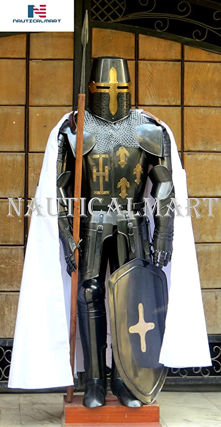 Amazon.com: Nauticalart, traje de caballero medieval traje ...