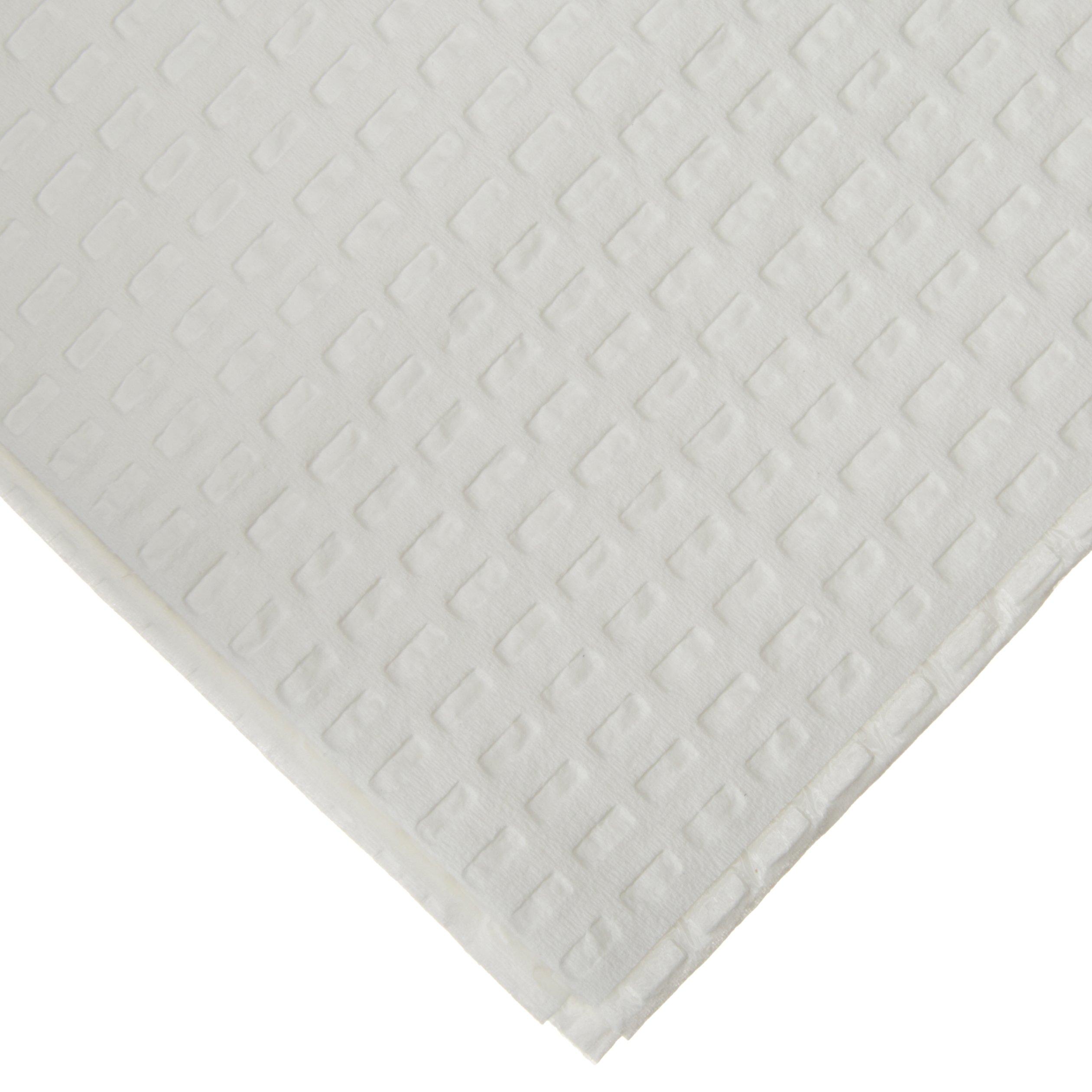 TIDI 3Ply Tissue/Poly White Dental Towel/Bib