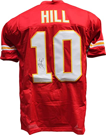promo code f32ee fb554 Tyreek Hill Signed Autograph Red Custom Jersey