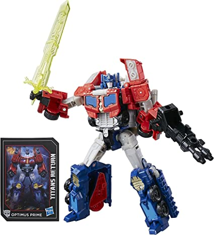 Transformers Voyager Class ~ OPTIMUS PRIME /& DIAC Action Figure ~ Titans Return
