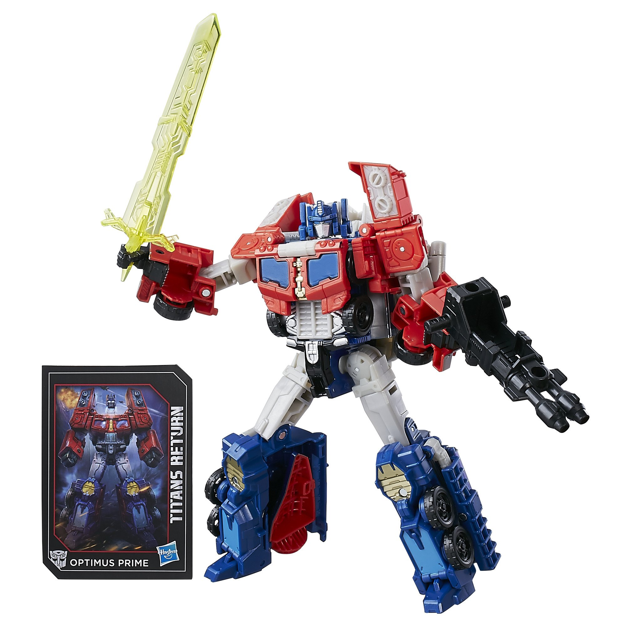 Transformers Generations Titans Return Voyager Class Optimus Prime and Diac, Multi Color product image