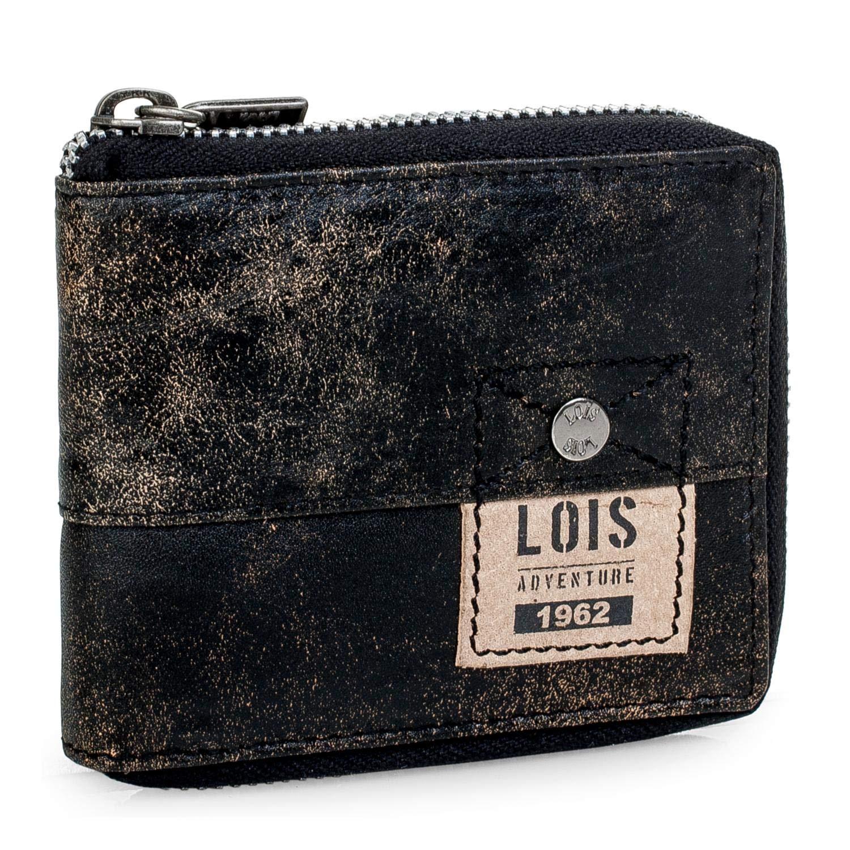 dee19837e Lois – Cartera Monedero Billetero Tarjetero Hombre de Cuero Piel Genuina.  Cremallera Exterior. Porta Monedas, Compartimentos Tarjetas, Documentación  y…