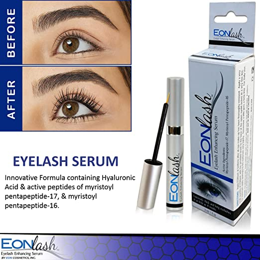 fa1c66bab74 Amazon.com: EonLash Eyelash Growth Enhancer Serum - Brow Serum Best Natural  Peptides Formula for Thick, Longer, Lush & Lavish Lashes - Hypoallergenic  and ...