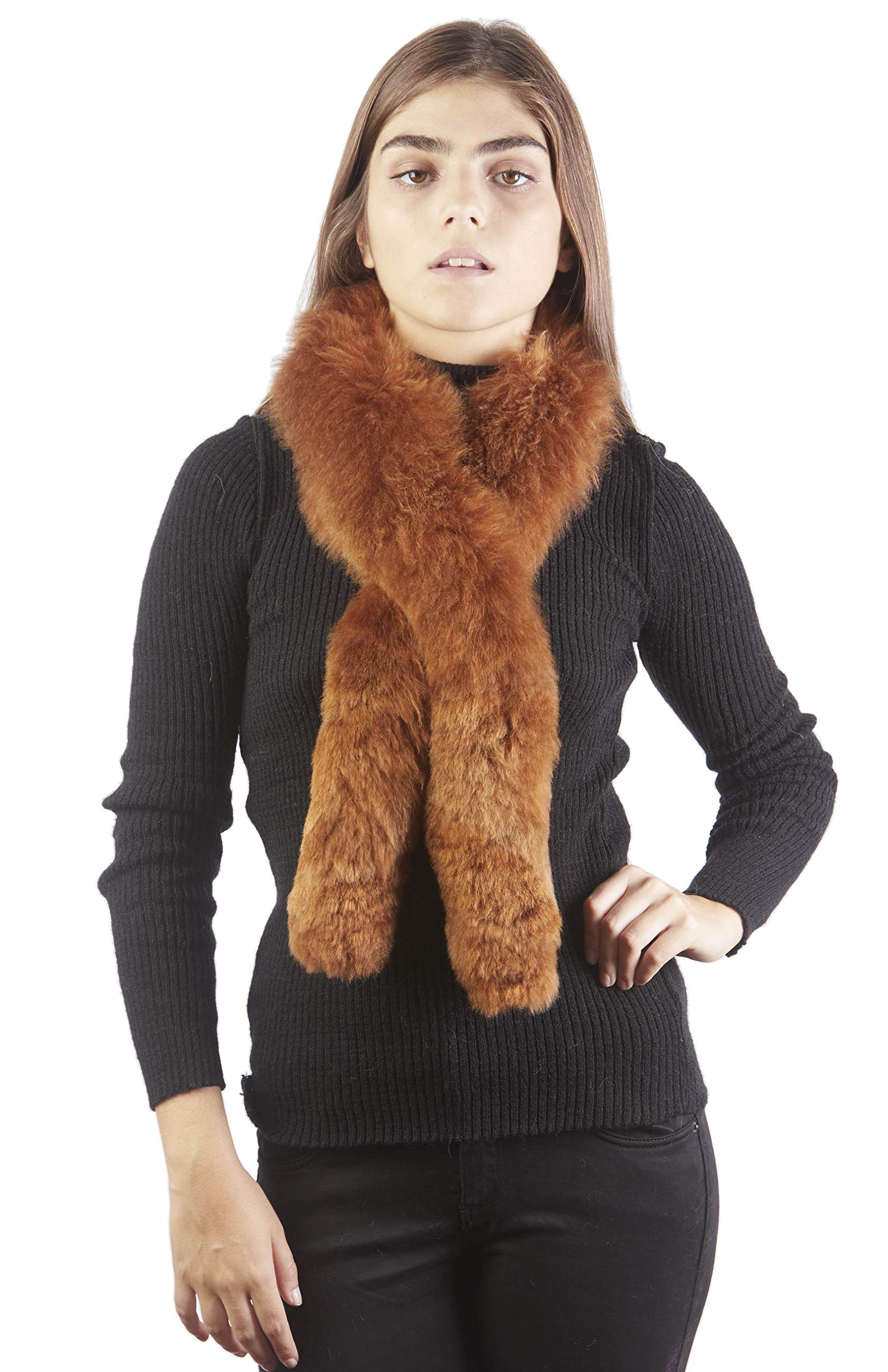 Raymis 100% Baby Alpaca Fur Women´s Scarf Stole (Brown) by Raymis