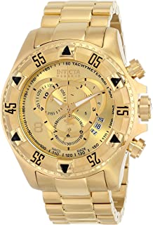 86adf1b79e0 Invicta Men s 6471 Excursion Reserve Chronograph 18k Gold Ion-Plated  Stainless Steel Watch