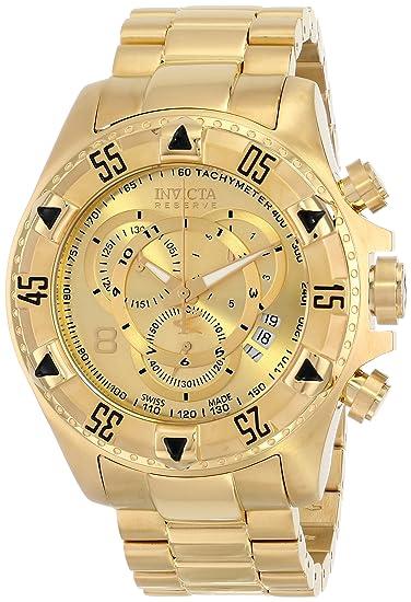 Invicta 6471 - Reloj de pulsera hombre, acero inoxidable, color Oro: Amazon.es: Relojes