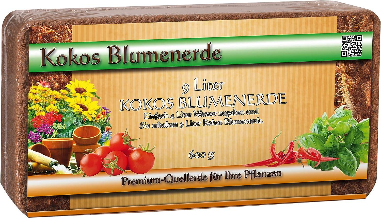12x 600gramos Tierra Coco Humus ladrillo–torffreie Tierra para macetas–Fibra de Coco Briquetas sustrato de fibra de coco de coco turba para flores Tierra–Maceta Tierra Coco Tierra para macetas