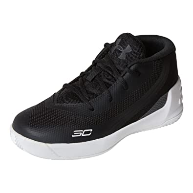 cad001abe0a Under Armour Boy s Curry 3 Basketball Shoes Black White Size 7 ...