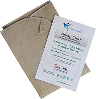 product image for EcoPeaceful Reusable Cheesecloth - European Hemp with 100% Organic Cotton stitching, GMO-free, Ubleached. Cheesecloth, Tofu Cloth, Dish Towel, Hand Towel, Washcloth, Exfoliating Cloth