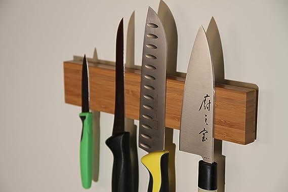 Mercer Culinary 磁性竹制壁挂式刀架