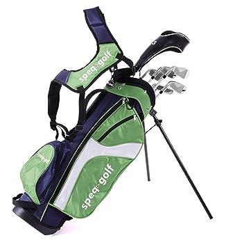 SPEQ - Medio Juego de Palos de Golf para niños, Color Azul ...