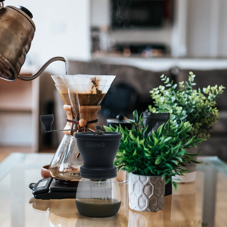 moler a mano coffee grinder cafetera expreso GOURMEO molinillo de caf/é premium de dise/ño japon/és con torno de cer/ámica molino de caf/é manual