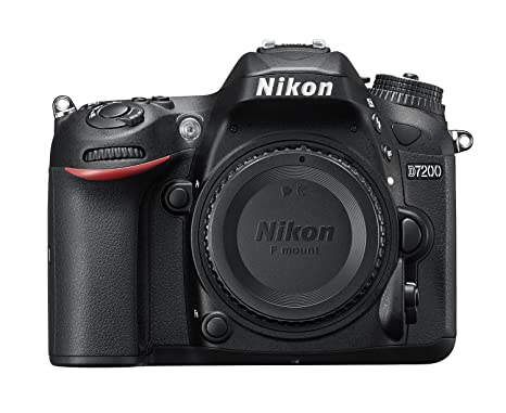Nikon D7200 24.2MP Digital SLR Camera Body Only (Black) with Card, Camera Bag Digital SLRs at amazon
