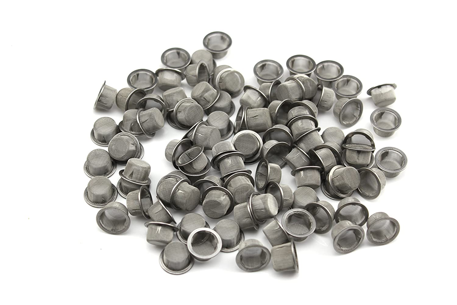 DeYue Crystal Pipe Screens, 60pcs 0.5Inch Diameter Premium Stainless Steel Mental Screen Filters for Crystal Pipe Use (60)
