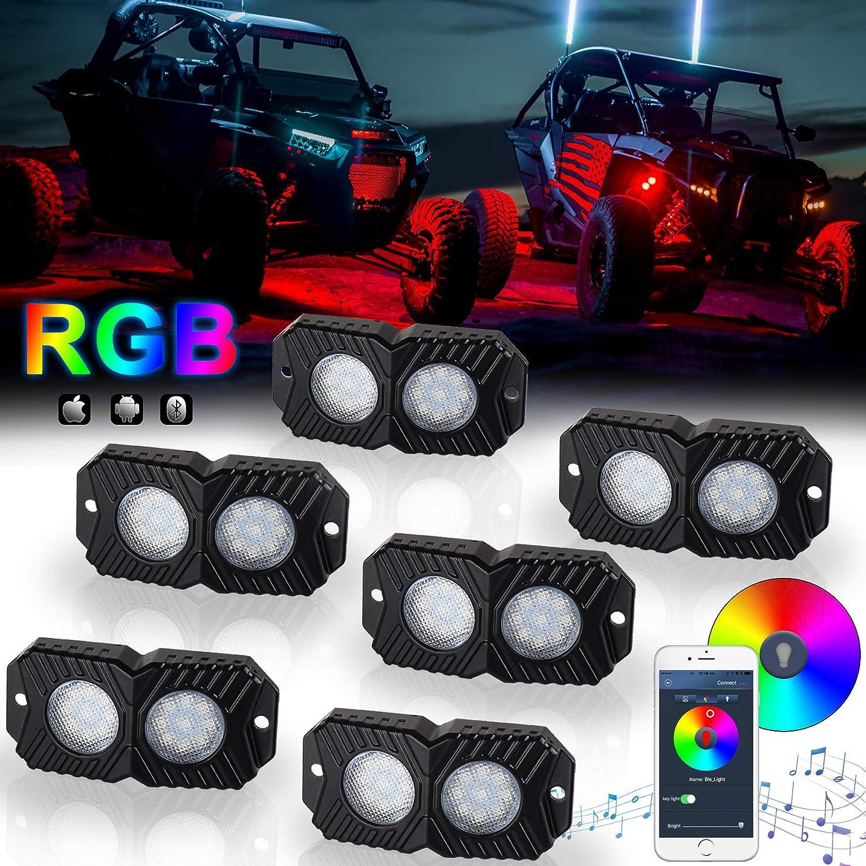 6 Pack RIGID IND 400253 Cool White Rock Light Kit 6