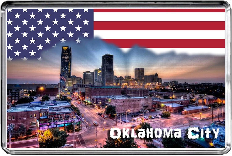 USA E450 Oklahoma City Fridge Magnet Travel Photo Refrigerator Magnet