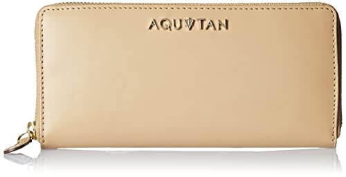 Aquatan Women's Jetsetter Zip Around Leather Wallet Camel AT-W-54