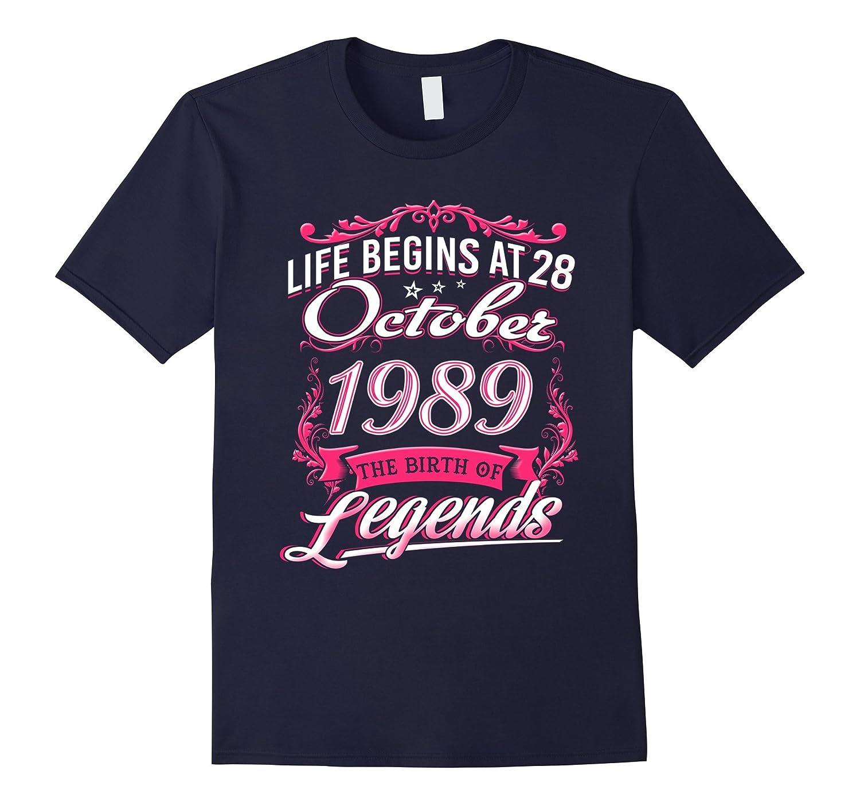 October 1989 - 28th Birthday Gifts Funny Tshirt-TJ