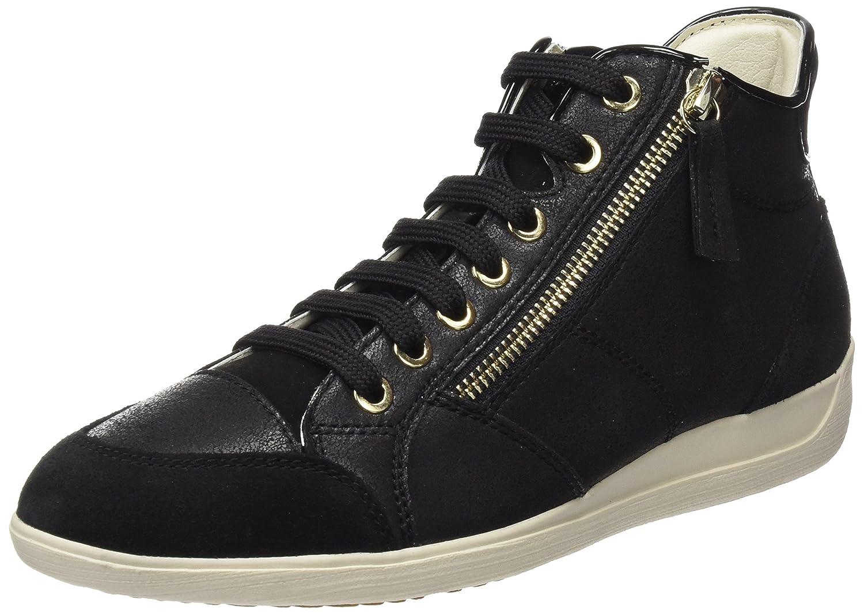 Geox D Myria C, Zapatillas Altas para Mujer 39 EU|Negro