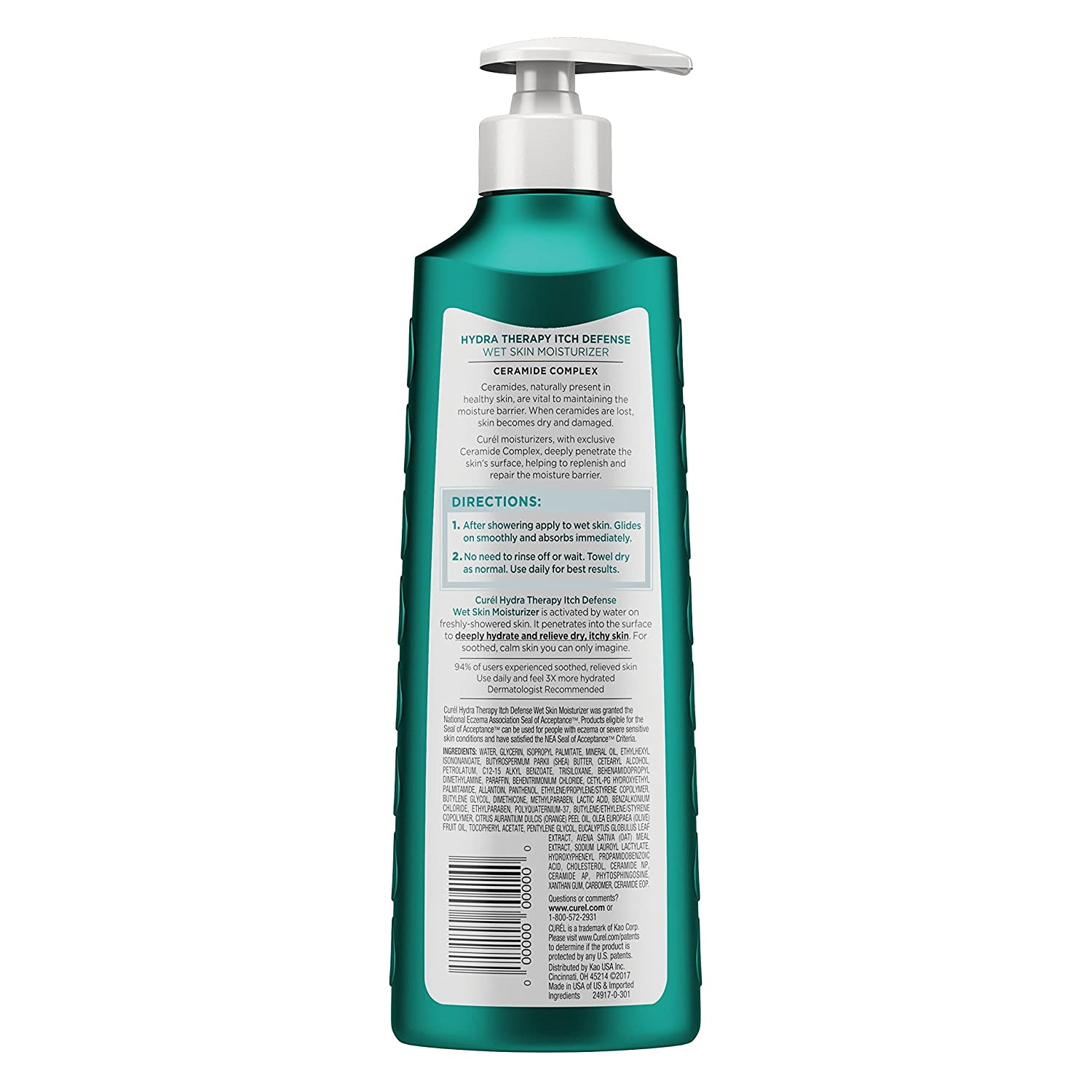 Curél Hydra Therapy, Itch Defense Moisturizer with Curl Itch Defense Body Wash : Beauty
