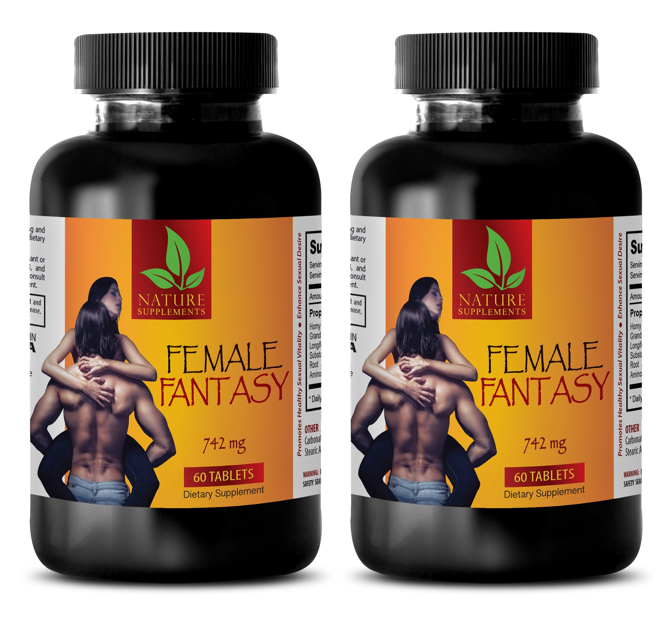 Women Sex Drive Pills - Female Fantasy (LIBIDO Boosting Formula) - Horny Goat Weed Herbal Supplements - 2 Bottles 120 Tablets