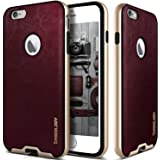 iPhone 6S Case, Caseology® [Envoy Series] Premium Leather Bumper Cover [Cherry Oak] [Leather Bound] for Apple iPhone 6S (2015) & iPhone 6 (2014) - Cherry Oak