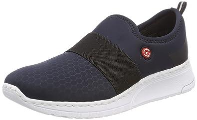 Rieker Damen N5051 Sneaker, Blau (Pazifik/Schwarz), 38 EU