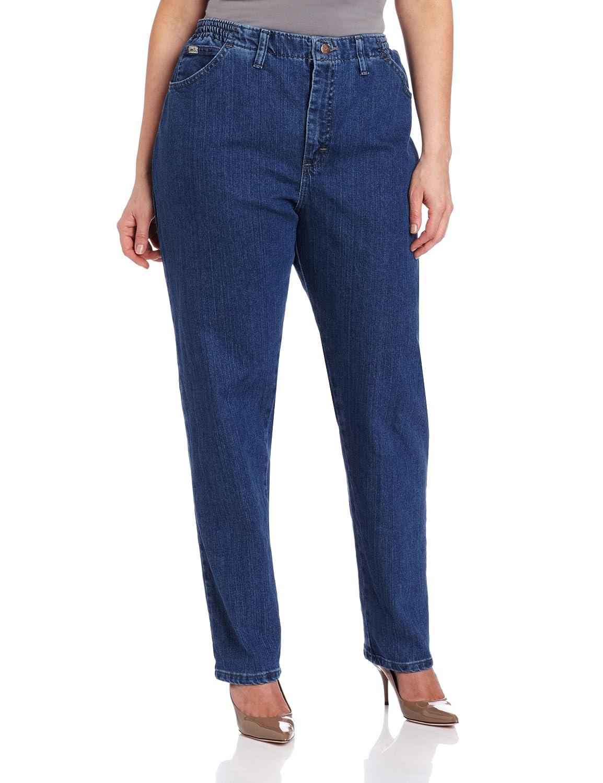 Lee Women's Side Elastic Stretch Plus Size Jean