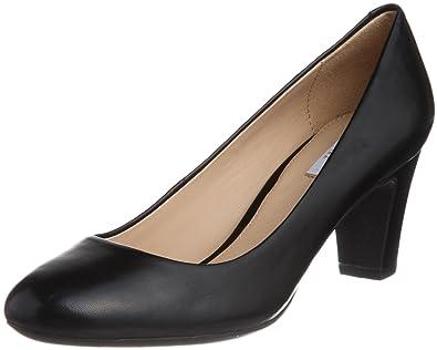 Geox Womens D MARIEC.MID B Pumps Black Schwarz (BLACK C9999