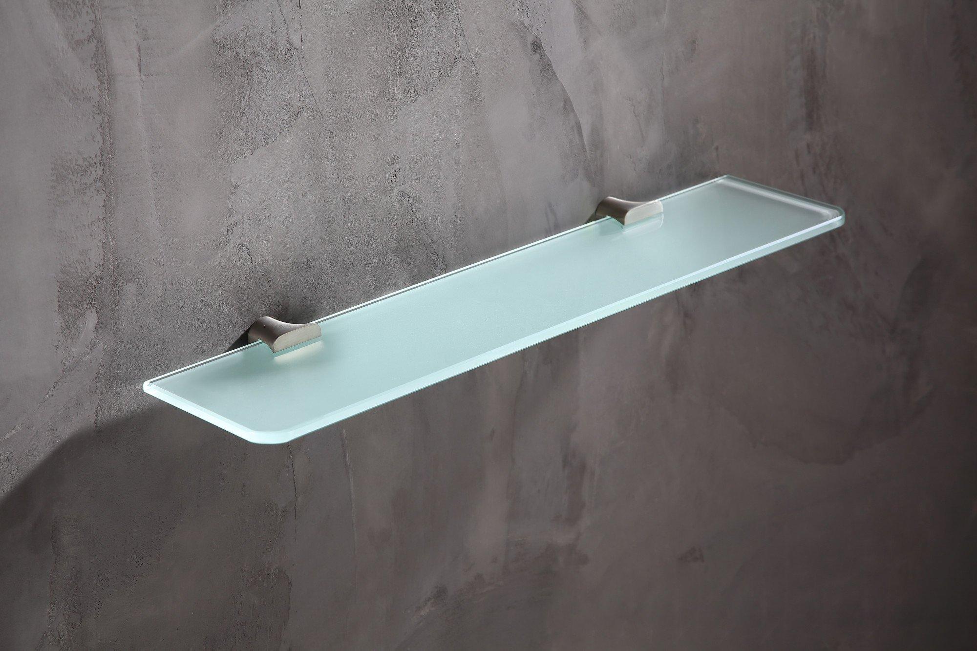 19.69'' Glass Shelf - Brushed Nickel - Essence Series AC-AZ050BN - ANZZI by ANZZI (Image #4)