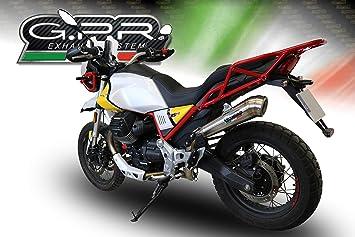 Gpr Auspuff Kompatibel Mit Motorrad Guzzi V85 Tt 2019 2020 Auspuff Zugelassen Mit Powercone Evo Anschluss Auto