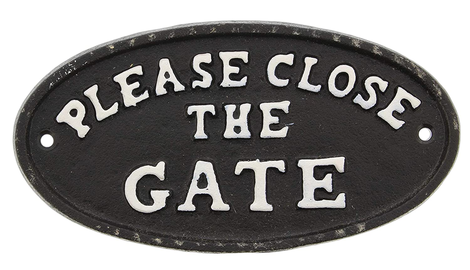 Park Hill Decorative Sign Please Close The Gate Cast Iron 6.75