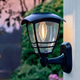 MAGGIFT 4 Pack Solar Powered Wall Lantern, Outdoor 10 Lumen LED Edison Bulb Warm White Solar Lights Wall Sconce with No…