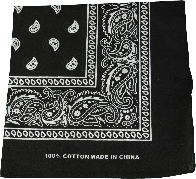 quadratisch Halstuch mit Paisleymuster Kopftuch Bandana schwarz