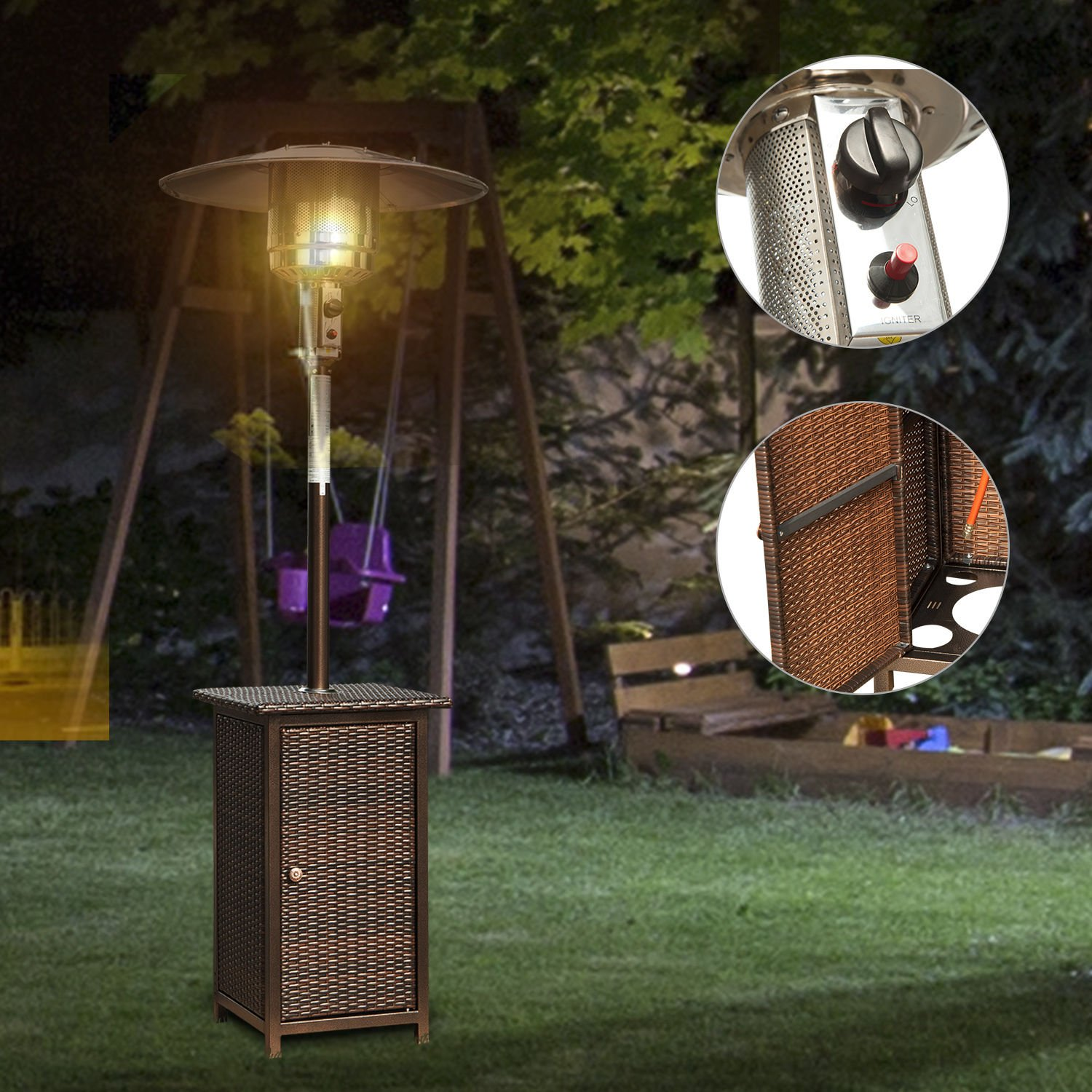 Rattan Tabletop 12kw Patio Heater Ideal Home Show Shop