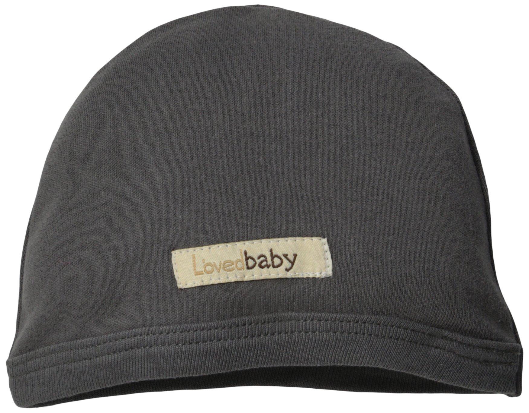 L'ovedbaby Unisex-Baby Newborn Organic Cute Cap, Gray, 12/24 Months
