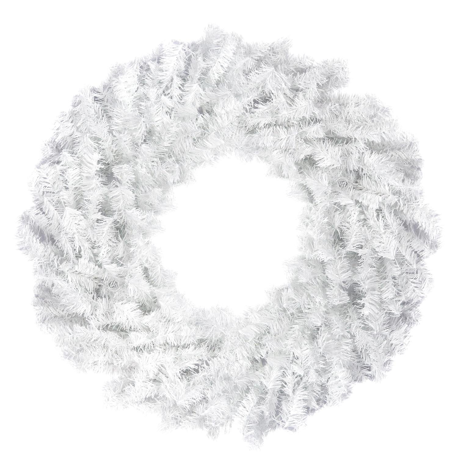 Northlight 24'' White Canadian Pine Artificial Christmas Wreath - Unlit