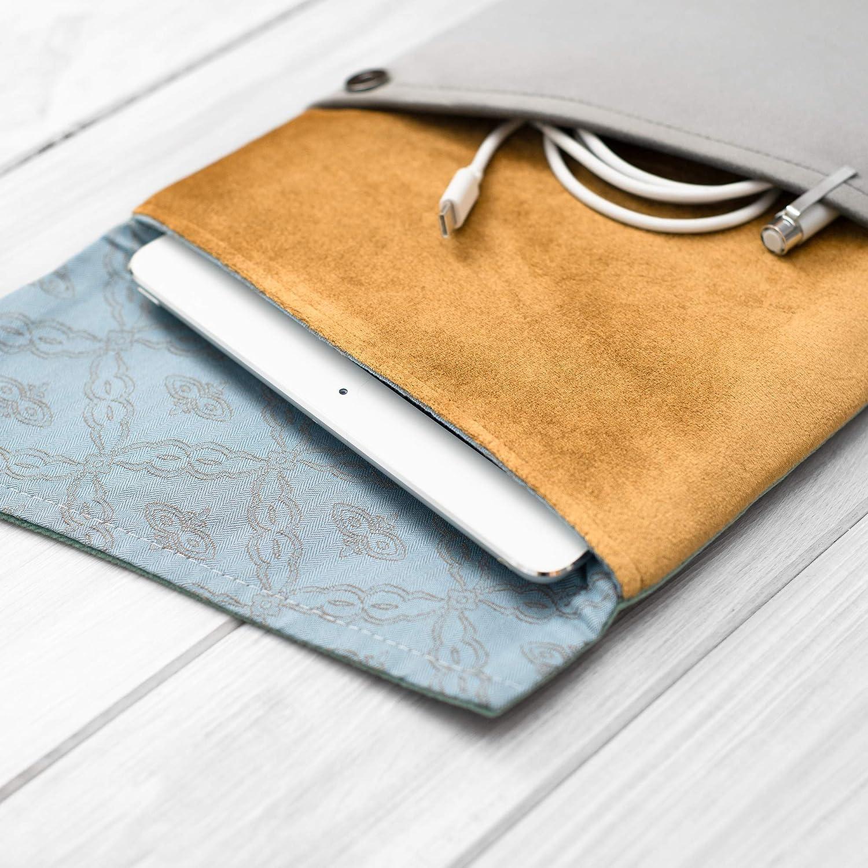 étui/housse/sleeve/pochette pour tablette iPad Pro Air 9.7 10,5 11 12.9 tissu velours super design, Couvercle triangulaire, Trois couleurs, Gris, vert et or