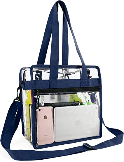 "12/"" x 12/"" x 6/"" Stadium Security Travel /& Gym Clear Bag Clear Tote Bag Stadium Approved Sports Games and Concerts Perfect Clear Shoulder Bag for Work"